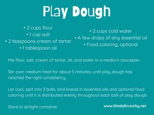 DIY play dough essential oils